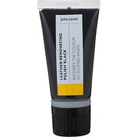 John Lewis Leather Renovating Shoe Polish, 50ml, Black