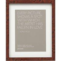 John Lewis Walnut Veneer Effect Photo Frame, 6 x 8 (15 x 20cm)