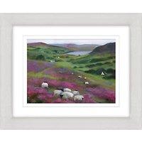 Debbie Neill - Heather Sheep Framed Print, 47 x 57cm
