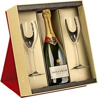 Bollinger Special Cuvée Champagne and 2 Glasses Set, 75cl