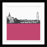 Jacky Al-Samarraie London Skyline Framed Print, 54 x 54cm