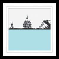 Jacky Al-Samarraie St Pauls Cathedral and Millennium Bridge Framed Print, 54 x 54cm