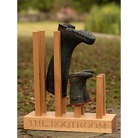The Oak And Rope Company Personalised Wellie Boot Holder, 4 Pairs