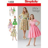 Simplicity 1950s Vintage Dresses Sewing Pattern, 1459