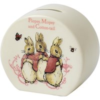 Beatrix Potter Peter Rabbit Flopsy, Mopsy And Cotton Tail Money Box