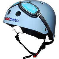 Kiddimoto Blue Goggles Helmet, Small
