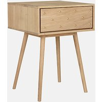Bethan Gray for John Lewis Genevieve 1 Drawer Bedside Table, FSC-Certified (Oak)