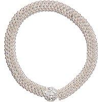 John Lewis Effervescent Glass Bracelet, Silver