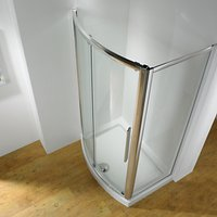 John Lewis and Partners 1200 x 700mm Shower Enclosure with Bowed Front Sliding Door