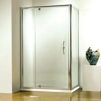 John Lewis and Partners 76 x 76cm Shower Enclosure with Pivot Door and Side Panel