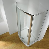 John Lewis and Partners Surround 150 x 70cm Recess Shower Enclosure with Bowed Front Sliding Door