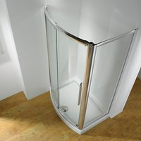 John Lewis and Partners 170 x 70cm Shower Enclosure with Bowed Front Sliding Door