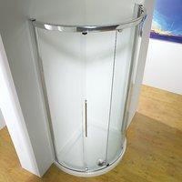 John Lewis 120 x 91cm Shower Enclosure with Curved Sliding Side Door