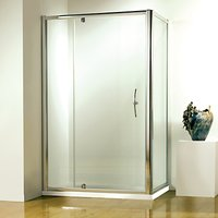 John Lewis and Partners 80 x 80cm Shower Enclosure with Pivot Door and Side Panel