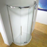 John Lewis 100 x 81cm Shower Enclosure with Curved Sliding Side Door