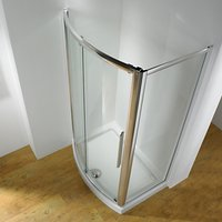 John Lewis and Partners 150 x 70cm Shower Enclosure with Bowed Front Sliding Door