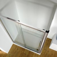 John Lewis 120 x 80cm Shower Enclosure with Straight Sliding Door and Side Panel