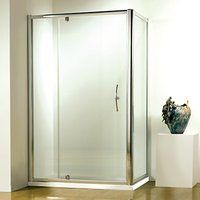 John Lewis and Partners 90 x 90cm Shower Enclosure with Pivot Door and Side Panel