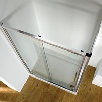 John Lewis and Partners 120 x 80cm Shower Enclosure with Straight Sliding Door