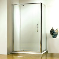 John Lewis and Partners 120 x 80cm Shower Enclosure with Pivot Door and Side Panel