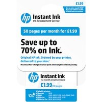 HP Instant Ink Enrolment Card, 50 Pages