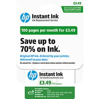 HP Instant Ink Enrolment Card, 100 Pages
