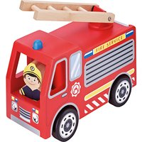 John Lewis Wooden Fire Engine Play Set