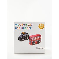 John Lewis & Partners Wooden London Bus And Black Cab Set