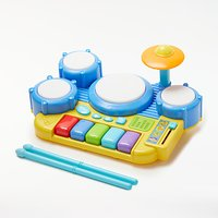 John Lewis & Partners Bopping Beats Drumkit and Keyboard