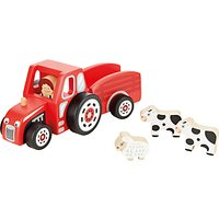 John Lewis & Partners Wooden Tractor and Trailer