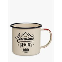 Gentlemens Hardware Enamel Mug, White/Blue