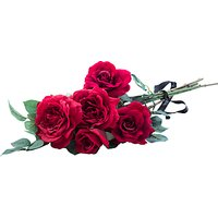 Peony Artificial Red Rose Bouquet