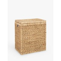 John Lewis Water Hyacinth Double Laundry Hamper