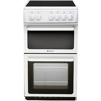 Hotpoint HAE51PS Electric Cooker, White