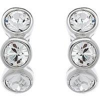 Cachet Swarovski Crystal 3 Stone Mini Stud Earrings