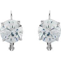 Cachet Rhodium Plated Swarovski Crystal Leverback Drop Earrings, Silver