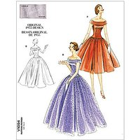 Vogue Vintage Evening Gown Sewing Pattern, 1094