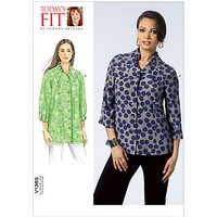 Vogue Todays Fit Womens Top/Vest Sewing Pattern, 1385