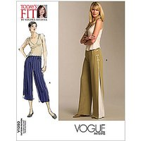 Vogue Women's Trousers Sewing Pattern, 1050