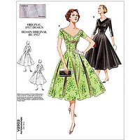 Vogue Vintage Womens Dress Sewing Pattern, 2903