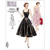 Vogue Womens Vintage Model Dresses Sewing Pattern, 2902