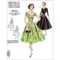 Vogue Vintage Womens Dresses Sewing Pattern, 2903