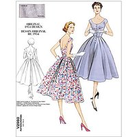 Vogue Womens Vintage Model Dresses Sewing Pattern, 2960