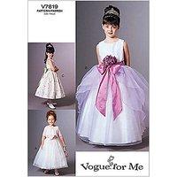 Vogue Girls' Jacket and Dress Sewing Pattern, 7819
