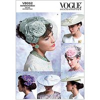 Vogue Womens Hats Sewing Pattern, 8052