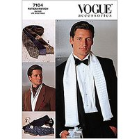 Vogue Mens Accessories Ties & Scarves Sewing Pattern, 7104
