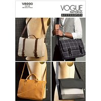 Vogue Messenger Bags Sewing Patterns, 8990
