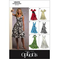 Vogue Womens Dresses Sewing Pattern, 8470