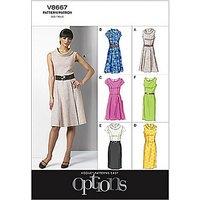 Vogue Womens Dress Sewing Pattern, 8667
