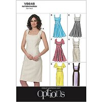 Vogue Womens Dress Sewing Pattern, 8648